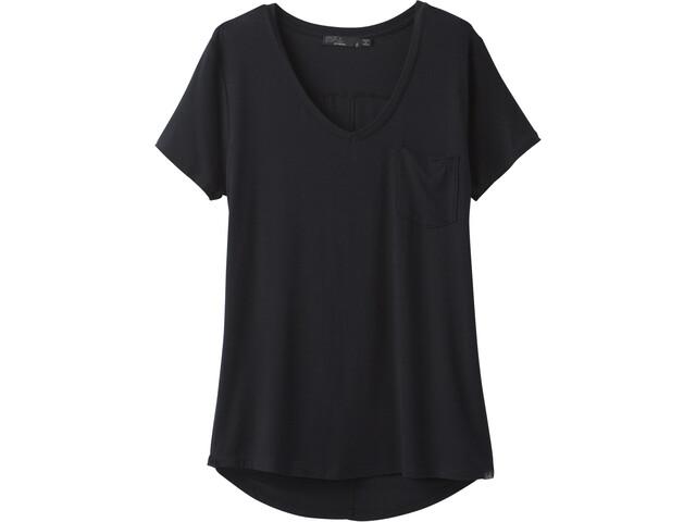 Prana Foundation T-shirt avec col en V Femme, black